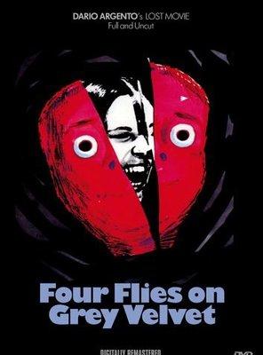 Poster of Four Flies on Grey Velvet