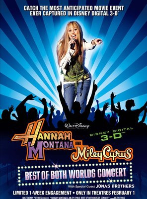 Poster of Hannah Montana & Miley Cyrus: Best of Both Worlds Concert
